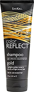 Shikai - Color Reflect Gold Shampoo, Creates an Overall Brightening Effect for Blonde Hair, Adds Weightless Body & Shine, Helps Protect & Extend Color Treated Hair (Unscented, 8 Ounces)