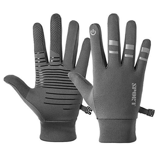 WT-BLVUVY Herren Damen Outdoor Reithandschuhe Luminous Windproof Handschuh M grau