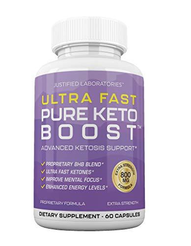 Ultra Fast Pure Keto Boost Pills Advanced BHB Ketogenic Supplement Exogenous Ketones Ketosis for Men Women 60 Capsules 1 Bottle 1