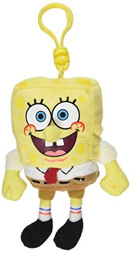 TY 40406 - Spongebob Schwammkopf Clip, Beanie Babies, 8,5 cm