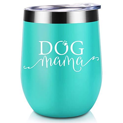 Hunde-Mama Geschenke – Hund Mama Tasse Hundeliebhaber für Frauen, lustige Geburtstag Muttertag Hundegeschenke Hundebesitzer, Oma, Hunde-Lady Coolife Weinglas