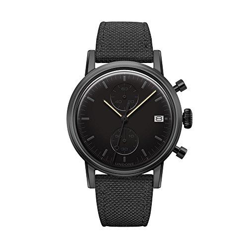 Undone'Urban Modern Black' Cronografo Ibrido Quarzo Meccanico Datario...