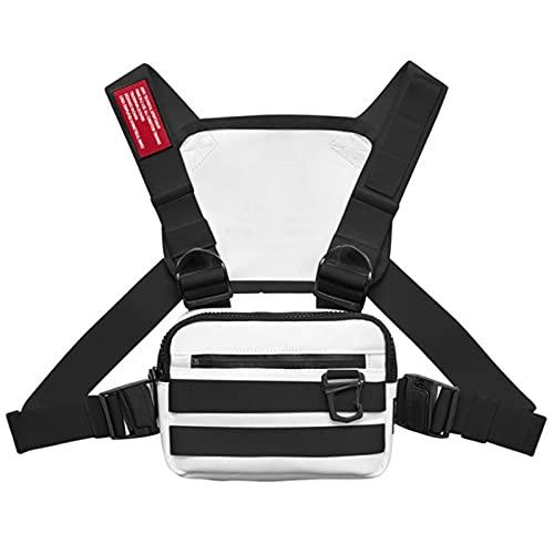 Crazyfly Mochila de ciclismo, mochila para correr, chaleco con agujero de alambre para auriculares y tira reflectante, paquete ligero para tarjetas para caminar y ciclismo