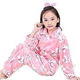 Autumn Winter PJ Set for Girl Flannel Children's Costumes Flannel Pajamas for Kids (3T, Rabbit)