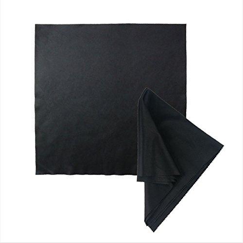 Paños de Limpieza de Microfibra de Color Negro de Calidad Profesional para la Limpieza de Gafas o para Pantallas – 40 x 40 cm, paño de Microfibra, paño de Limpieza óptico, paño para el Polvo Muy Fino