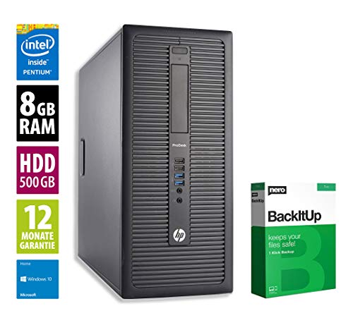 HP ProDesk 600 G1 MT | Office PC | Computer | Intel Pentium G3440 @ 3,3 GHz | 8GB RAM | 500GB HDD | Windows 10 Home (Zertifiziert und Generalüberholt)
