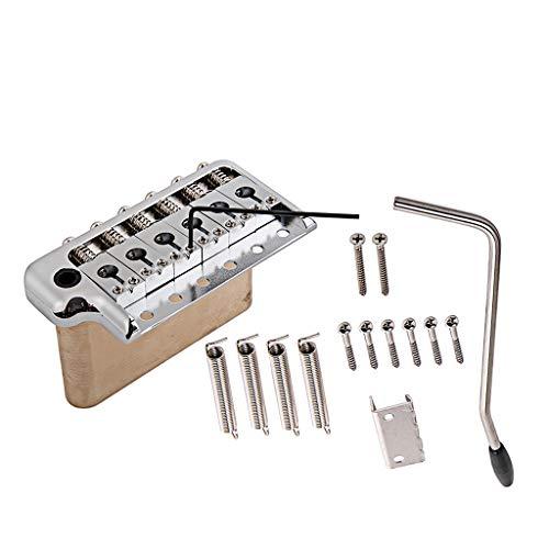 Alnicov Sistema de trémolo para guitarra eléctrica, puente de latón y sillines de acero inoxidable para repuesto de guitarra Strat ST