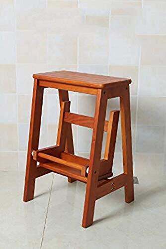 Qazxsw Praktische kleine Sitz Schuhleiste Esszimmer Restaurant Trittleiter Stuhl Tische und Stühle Tritt Holz Klapp Hoch Holzbank Küche Trittbrett Klappbarer Leiterstuhl Leitern
