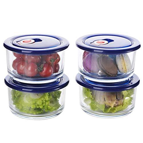 MMMP Boîtes Bento,Boîtes Alimentaires,Boîte À Lunch, Verre Alimentaire Conteneurs Avec Couvercles, For L'alimentation De Stockage 4 Pièces, Réutilisable