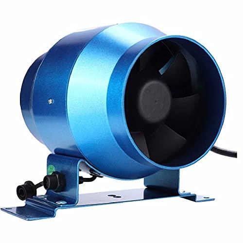 Hbao Ventilador de escape de 4 pulgadas Ventilador de conducto de velocidad ajustable Ventilador de ventilación de aire de ventana de campo de cultivo de jardín Extractor de ventilación de tubería 220
