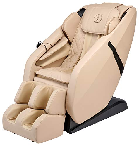 FR-6KSL Massage Chair, Full Body Shiatsu L-Track Rolling System with Built in Heat, Foot Rolling, Space Saving, Zero Gravity Massage Recliner, Bluetooth Speakers, 3 Language Smart Remote (Beige)