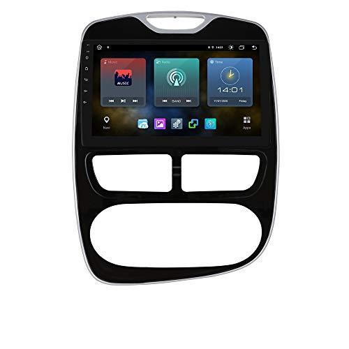 Ossuret 10.1 Pulgadas Pantalla táctil Car Radio Estéreo Android 10 Navegación GPS Compatible con Renault Clio 2012 2013 2014 2015 2016 Soporte multifunción