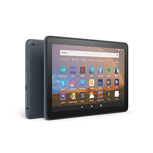 Das neue Fire HD 8 Plus-Tablet, 8-Zoll-HD-Display, 32 GB, Schiefergrau mit Spezialangeboten; unser bestes 8-Zoll-Tablet für Unterhaltung unterwegs