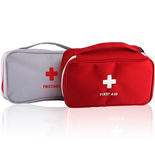 UIHOL Botiquín de Primeros Auxilios, 2PCS Bolsa vacía de Médica Vacio, Mini Bolsa médica portátil para Acampar al Aire Libre, Senderismo, Viaje, Emergencia-(Bolsa vacía)