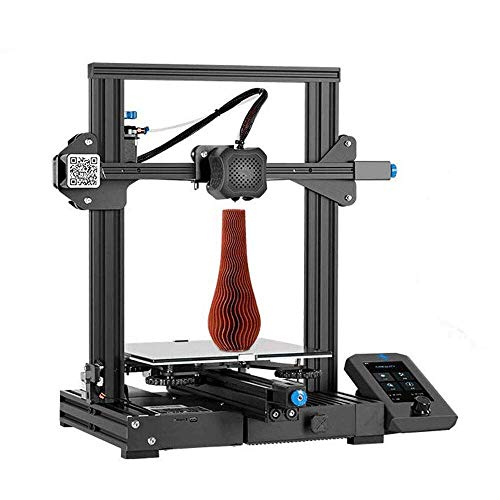 Creality Ender 3 V2 Impresora 3D con Placa Base Silenciosa, Controlador de Pantalla UI Colorido y Plataforma de Vidrio Carborundum, Tamaño de Impresión 220x220x250mm