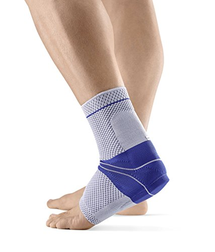 Bauerfeind - AchilloTrain - Achilles Tendon Support - Breathable Knit Ankle Brace for Targeted Relief of Achilles Tendon Without Limiting Mobility - Left Foot - Size 5 - Color Titanium
