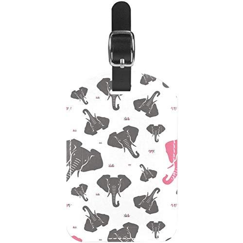 Etiquetas de Equipaje con diseño de Cara de Elefante para Maleta de Viaje, 1 Paquete