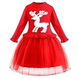 LEXUPE Baby Jogginganzug Mädchen 3PCS Outfits SetBrief Gedruckt Spielanzug Overall + Hirsch Sport...