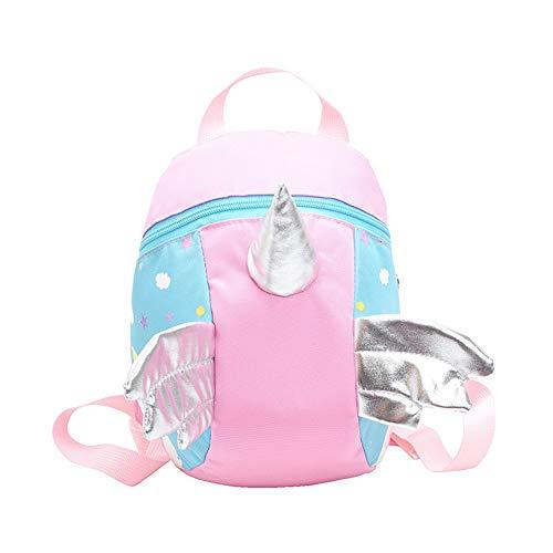 Topways® Unicorn Kleinkind Rucksack Tasche, Unicorn Umhängetasche für 1-5 Jahre Kinder mit Walkers Tether Gürtel, Kleinkind Mädchen Walking Strap Rucksack mit Reins Rucksack Taschen