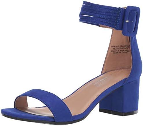 Aerosoles Women s Martha Stewart MID Year Heeled Sandal Blue Fabric 6 M US product image