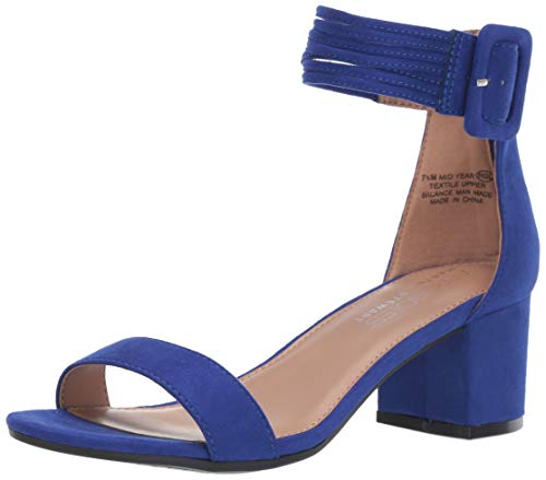 Aerosoles Women's Martha Stewart MID Year Heeled Sandal, Blue Fabric, 6 M US