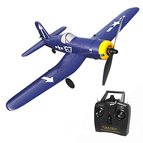 761-8 RC Plane 2.4Ghz 4CH Remote Control Airplane Ready to Fly with 6 Axis Gyro One Key Aerobatic Aircraft for Adults