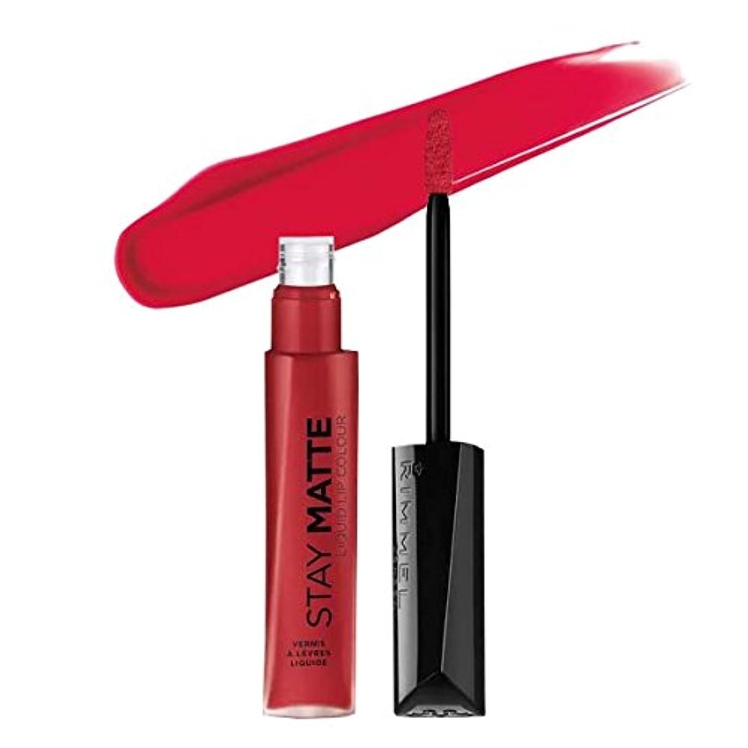 クリーナーリラックスした裁定(6 Pack) RIMMEL LONDON Stay Matte Liquid Lip Color - Fire Starter (並行輸入品)
