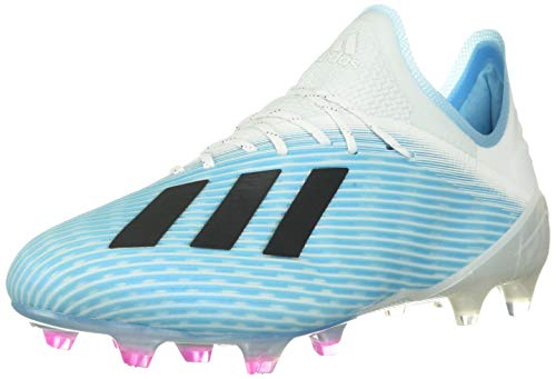adidas Men's X 19.1 Firm Ground Boots Soccer, Bright Cyan/Core Black/Shock Pink, 9 M US