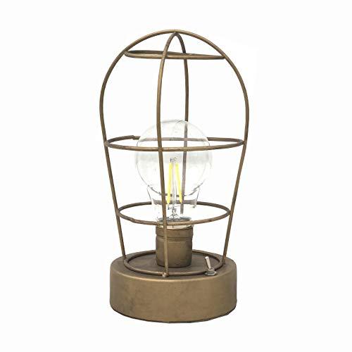 Chemin_de_Land industriële LED-lantaarn, werkt op batterijen, wandmontage, 21 cm x Ø 11,50 cm