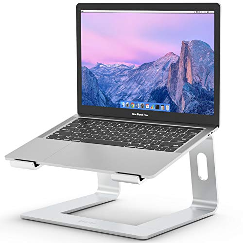 BESIGN LS03 Aluminum Laptop Stand, Ergonomic Detachable Computer Stand, Riser Holder Notebook Stand Compatible with MacBook Air Pro, Dell, HP, Lenovo More 10-15.6' Laptops, Silver