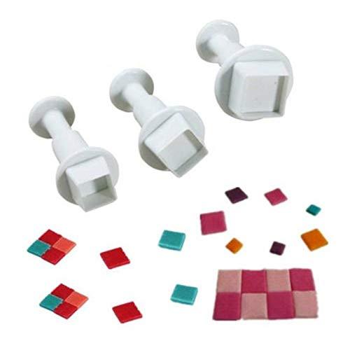Lot de 3 emporte-pièces carré