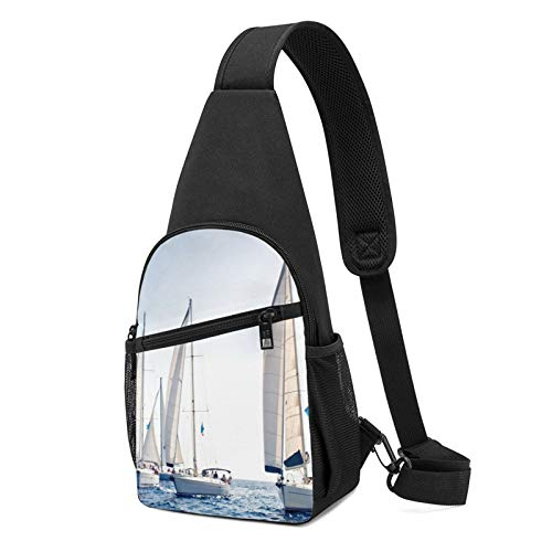 Ocean Sailing - Mochila de hombro ligera, para viajes, senderismo, bolsa de hombro, color Negro, talla Talla única