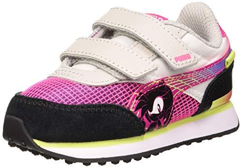 PUMA Unisex Baby SEGA Future Rider V Inf Sneaker, Glowing Pink Black, 22 EU