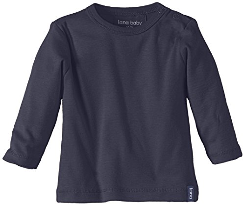 LANA natural wear GmbH Lana Natural Wear Unisex - Baby T-Shirt Jule, Einfarbig, Gr. 74/80, Blau (Ombre Blue 571)