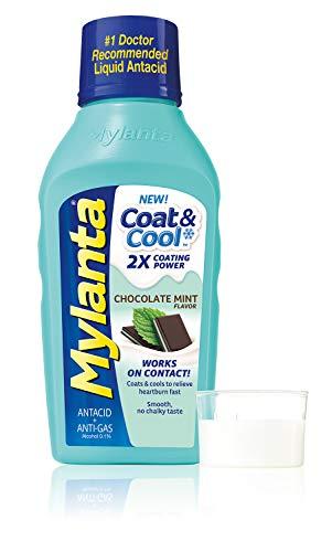 Mylanta Coat &  Cool™ Antiácido/Anti-gas Líquido, sabor a menta y chocolate, 12 onzas de fluido