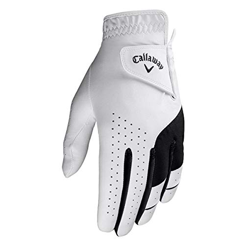 Callaway Golf 2019 Jungen X Junior Allwetterleistung Linkshänder Golfhandschuh White Medium/Large