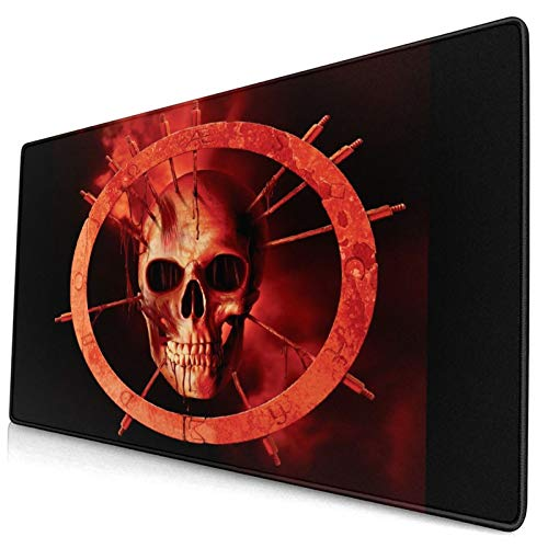 CANCAKA Large Gaming Mouse Pad,Blood Dark Demon Evil Occult Satan Satanic,Non-Slip Rubber Mouse Pads Mousepad for Gaming Computer Office Desk,75×40×0.3cm