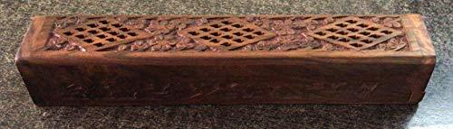 Store Indya - Scatola porta incenso in legno intagliato a mano