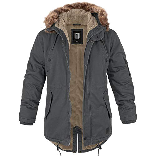 BW-ONLINE-SHOP Winterparka Fishtail mit Futter anthrazit - XL