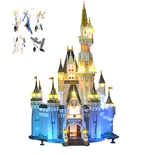 Kit De Luces LED para Bricolaje Adecuado para El Modelo De Bloques De Construcción del Castillo De La Princesa Cenicienta, Compatible con (Castillo De Disney 71040) (sin Modelos Lego)