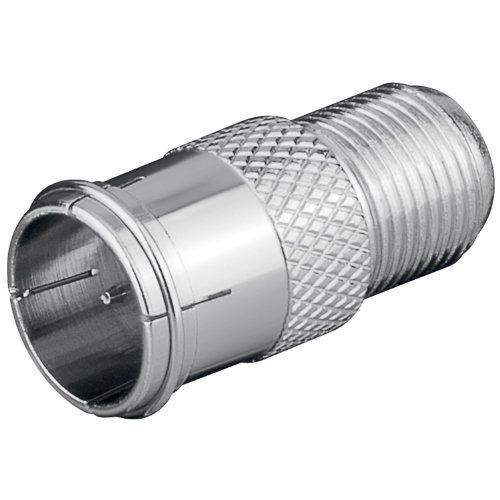 Preisvergleich Produktbild 10 Stück F-Stecker auf F-Buchse F-Quick Schnellverbinder