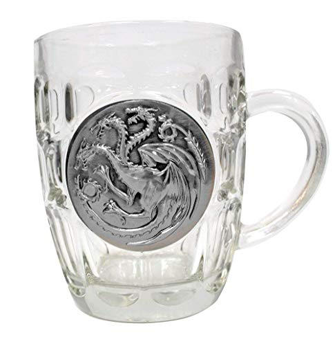 Game of Thrones Z868095 Glas-Bierkrug Targaryen Logo, Beige