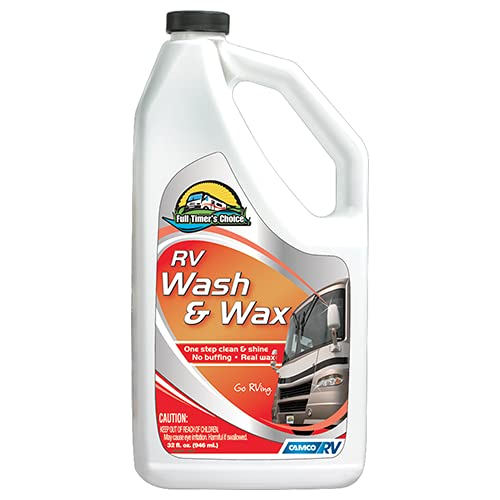 camco rv waxes Camco 40490 Cleaning/Polishing/Waxing Product (Pro-Strength, Bilingual 32 Oz)