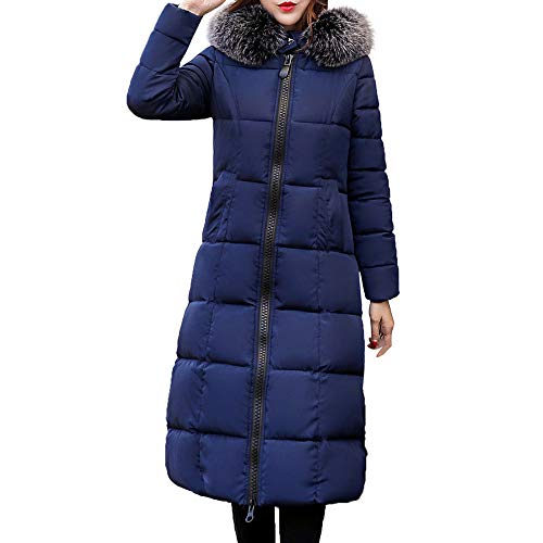 Lange donsjas dames bont met capuchon lange jas vrouwen rits jassen herfst winter trenchcoat kleding top outwear blouse warme mantel parka bovenkleding