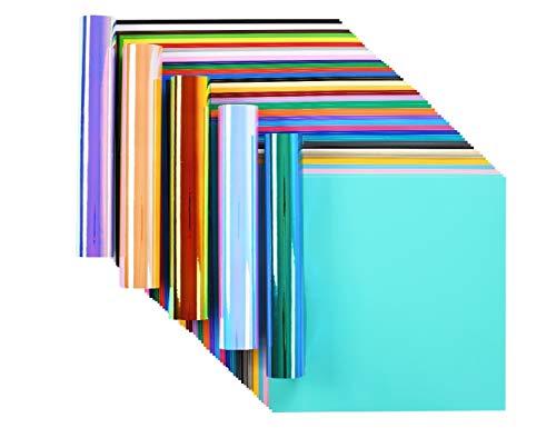 Lya Vinyl 65 Adhesive Vinyl Sheets & 5 Holographic Vinyl Paper for -