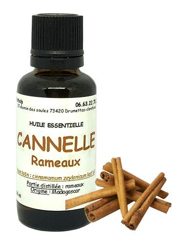 "Huile essentielle de Cannelle rameaux (10 ml).""Cinnamomum zeylanicum"""