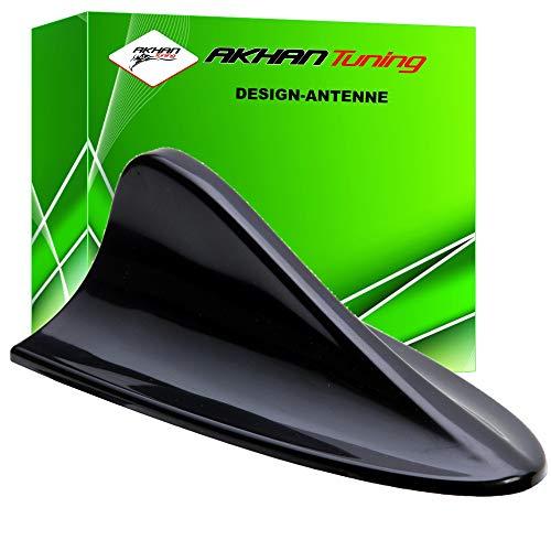 ANTB295 - SHARK ANTENA Antena Aleta de tiburón en forma de coche decorativo Antena DUMMY antena de techo NEGRO SPORT