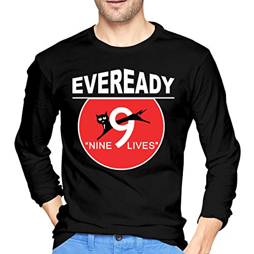 Abcdde Eveready Battery Logo Men's Long-Sleeve T-Shirt Black