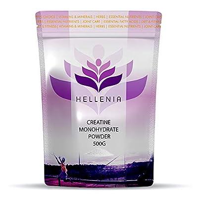 Hellenia Creatine Monohydrate Powder - 500g from Lifesource Supplements Ltd