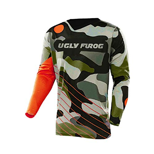 Uglyfrog 2020 Downhill Trikot Lange Ärmel Herren Mountainbike Freeride BMX Fahrradtrikot Motocross MTB/Downhill Bekleidung